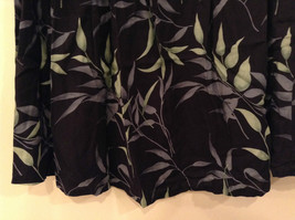 Jessica Stevens Skirt Black with Leaves Pattern Elastic Waist Size 2X image 5