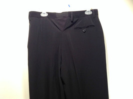 Jet Black Dress Pants Aquis Size 42 Made in France Front Button Zipper Closure image 6
