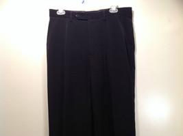 Jet Black Dress Pants Aquis Size 42 Made in France Front Button Zipper Closure image 2