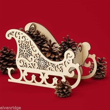 Laser Wood Centerpiece Flourish Winter  SLEIGH   Centerpiece