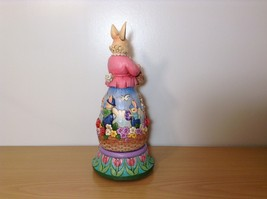 Jim Shore New Easter is Coming on the Way Bunny Rabbit Music Box Carousel NIB image 4
