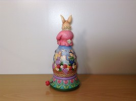 Jim Shore New Easter is Coming on the Way Bunny Rabbit Music Box Carousel NIB image 3