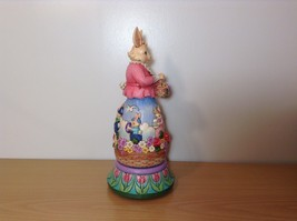 Jim Shore New Easter is Coming on the Way Bunny Rabbit Music Box Carousel NIB image 5