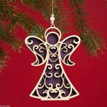 Laser Wood Ornament Flourish  Angel