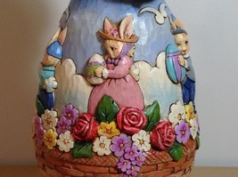 Jim Shore New Easter is Coming on the Way Bunny Rabbit Music Box Carousel NIB image 11