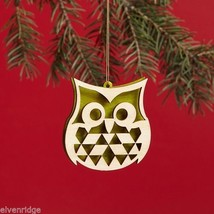 Laser Wood Ornament Flourish Filigree Owl