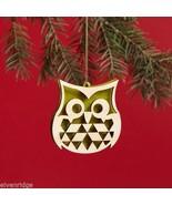 Laser Wood Ornament Flourish Filigree Owl - $5.94