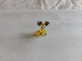 Micro Miniature hand blown glass made USA yellow moose image 2
