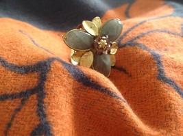 Adjustable Labradorite Stone Flower Ring Prudence C art for your finger image 5