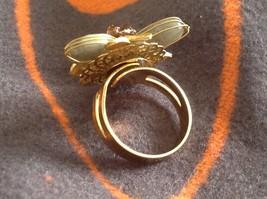 Adjustable Labradorite Stone Flower Ring Prudence C art for your finger image 8