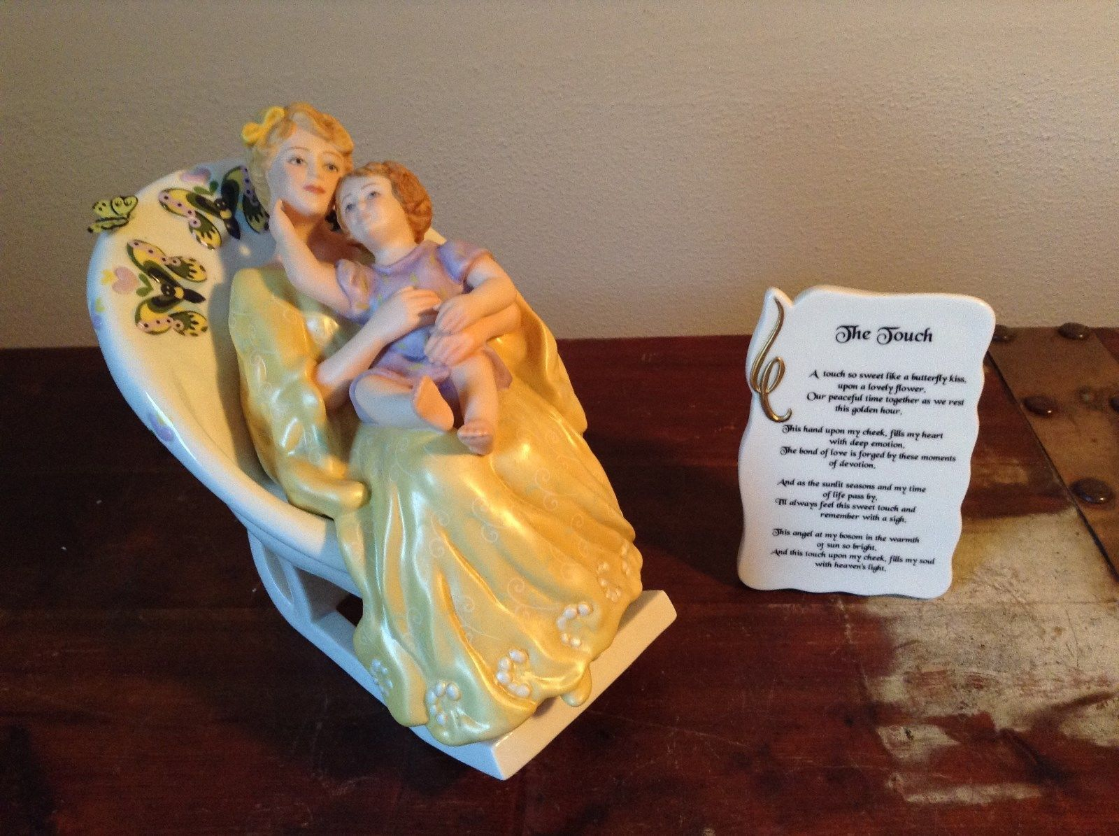 Primary image for Mother with Child in Rocking Chair Porcelain Figurine The Touch by Vivi