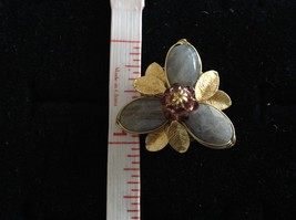 Adjustable Labradorite Stone Flower Ring Prudence C art for your finger image 9