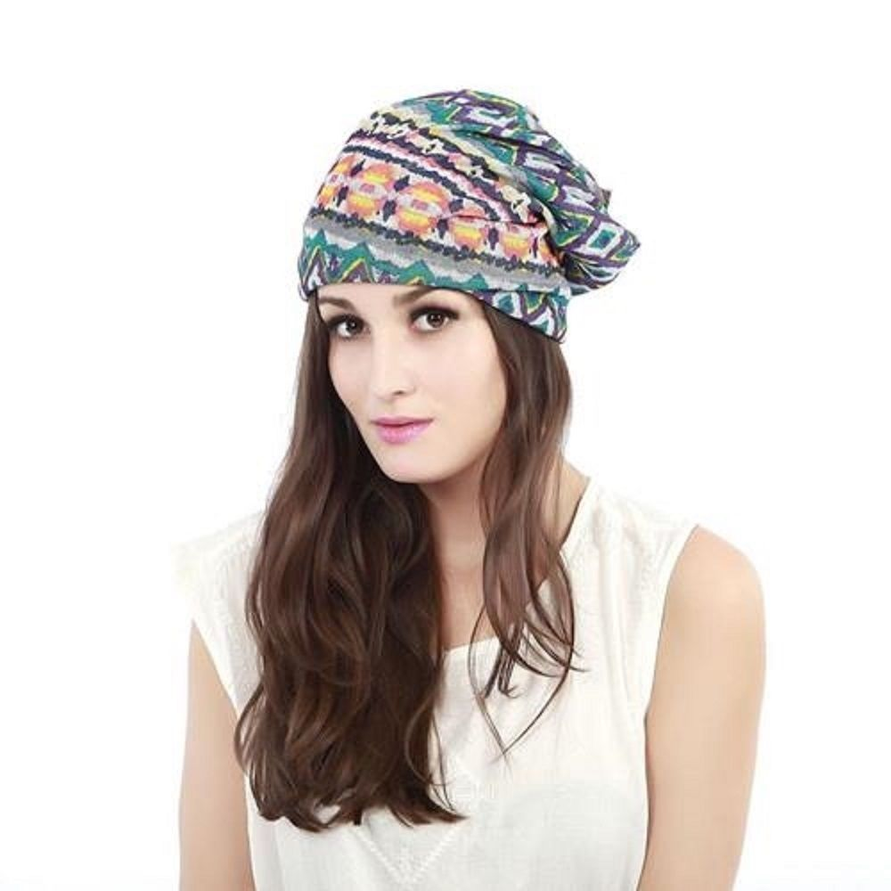Multi Use Fashion Beanie Hat or neckerchief Perfect for Any Season color choice