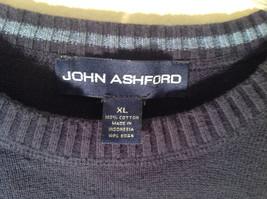 John Ashford Dark Blue with Light Blue Stripe Stretchy Sweater Stretchy Size XL image 3
