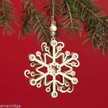 Laser Wood Ornament Flourish  Snowflake