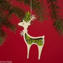 Laser Wood Ornament Flourish  Woodland Reindeer