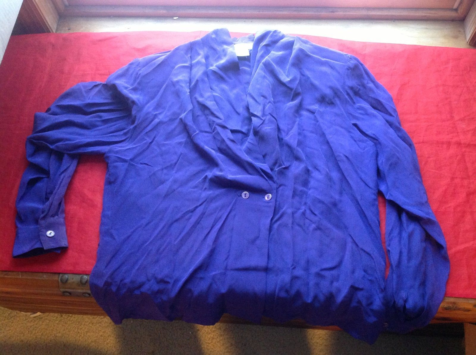 Lauren Alexandra Long Sleeve Purple Blouse Size 8