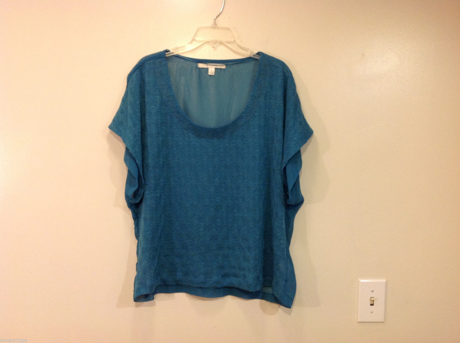 Lauren Conrad Soft Turquoise Ladies Blouse Top, Size XL 100% polyester