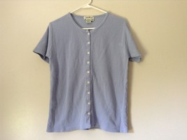 Lavender Short Sleeve Button Up Eddie Bauer Shirt 100 Percent Cotton Size Small