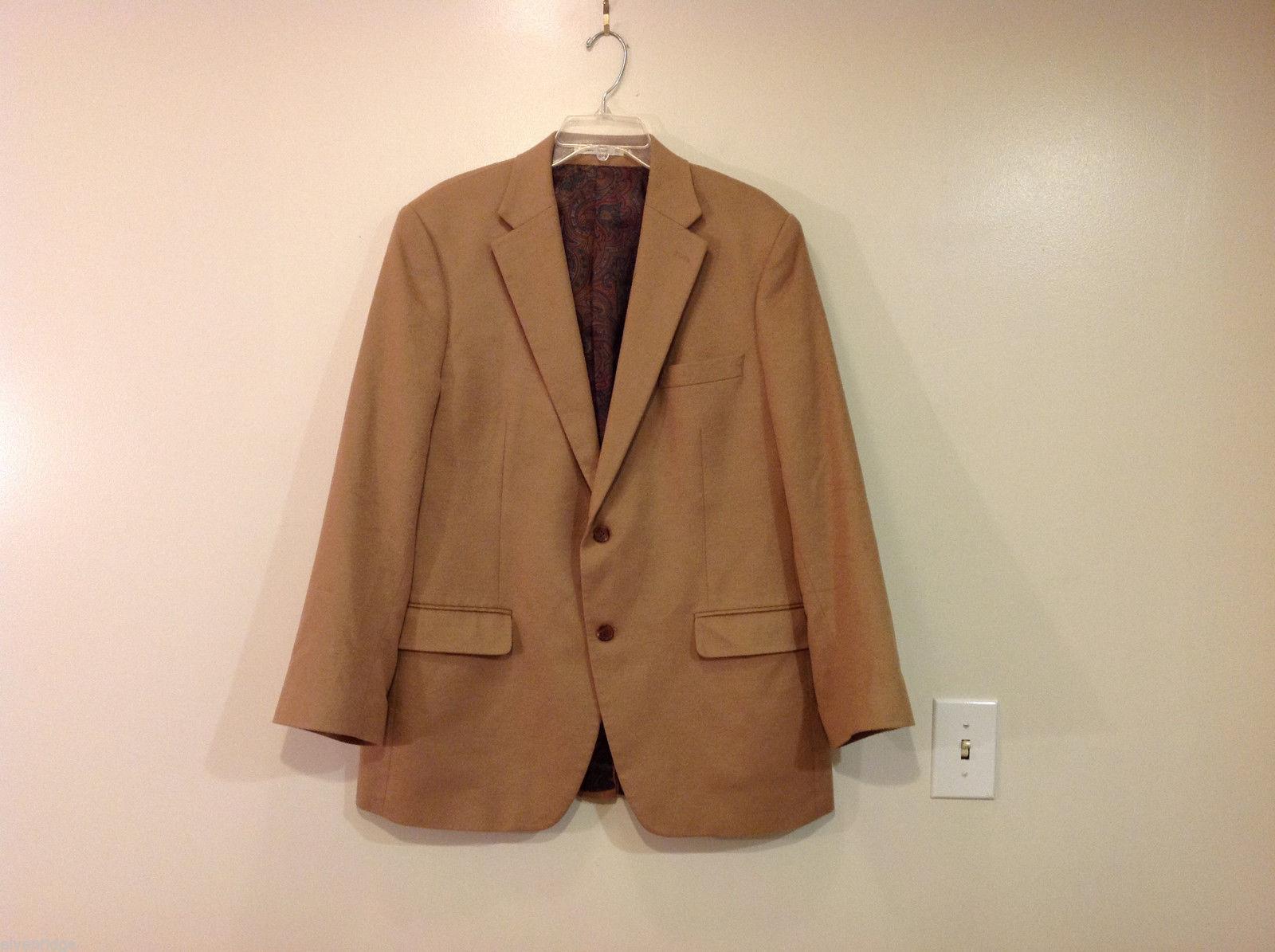Lauren by Ralph Lauren Two Buttons Sand Brown Blazer Suit Jacket Size 43R