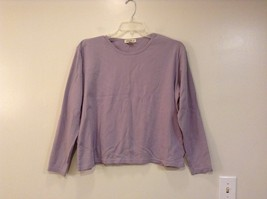 Lavender Long Sleeve Eddie Bauer 100 Percent Cotton Shirt Size XL