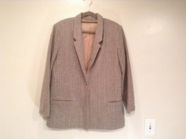 Laura Size 12 Gray Lined Blazer 1 Button Closure Pockets Excellent Condition image 1