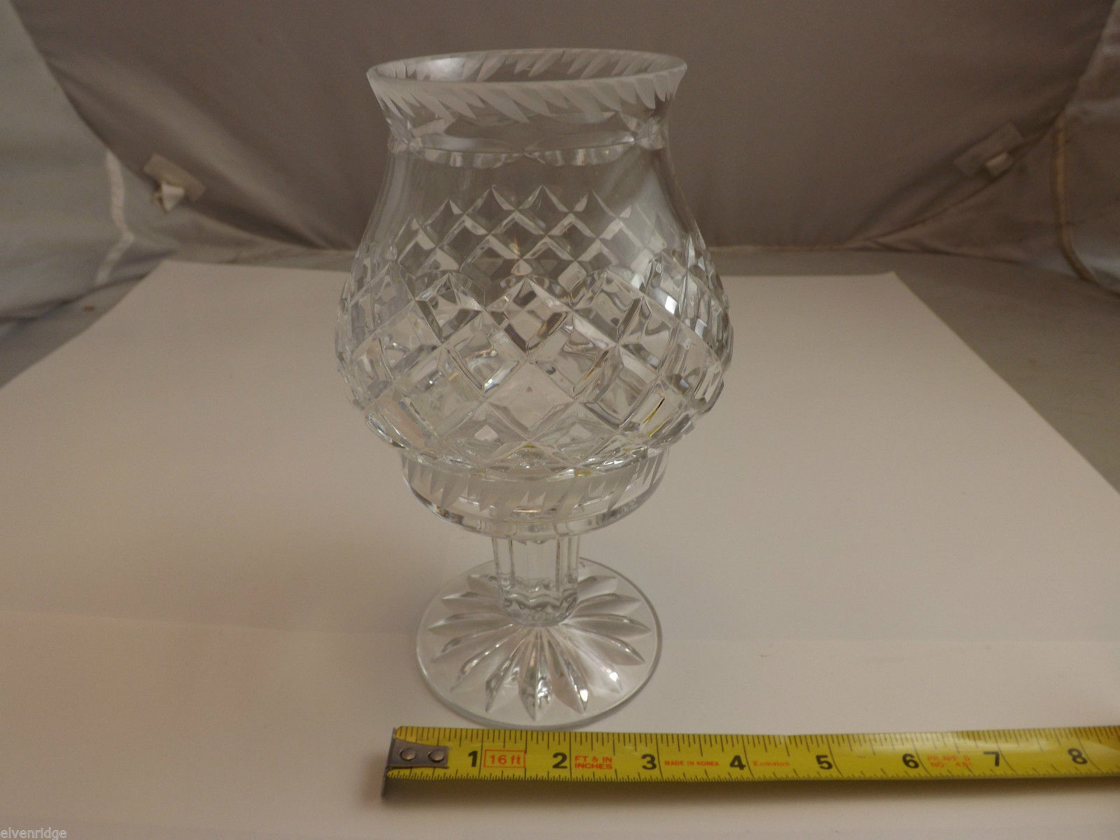 Lead Crystal 2 Piece Pedastal Candle Holder