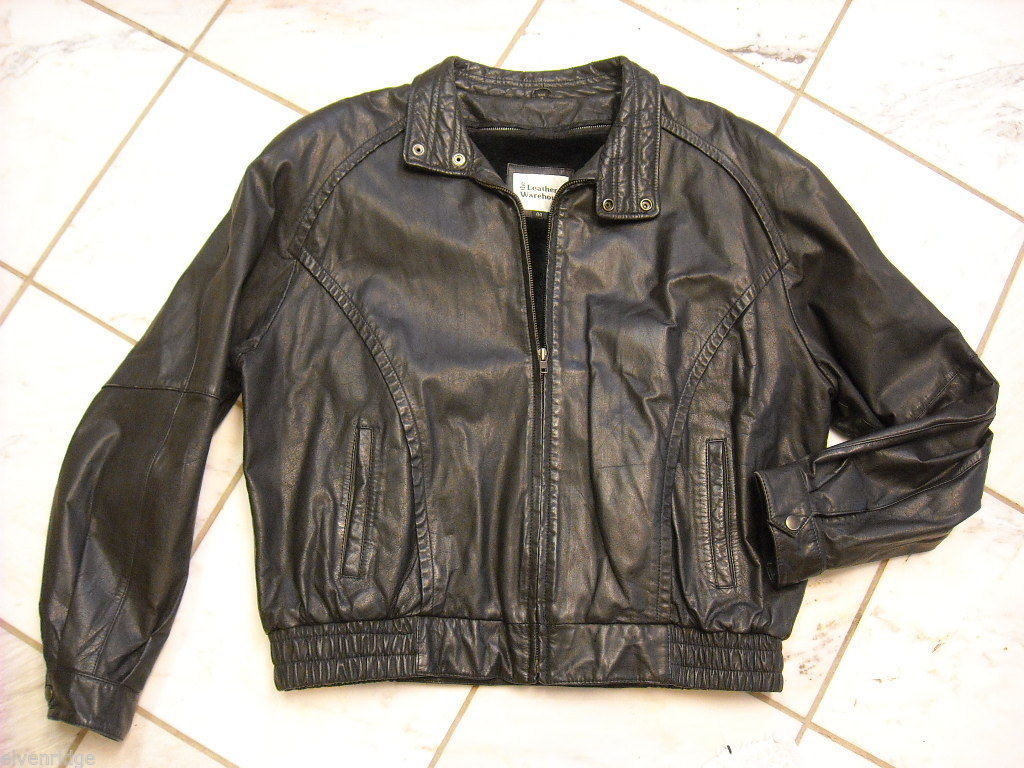 Leather Jacket black by The Leather Warehouse