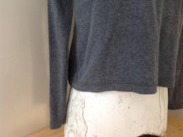 Jordache Gray V Neck Long Sleeve Shirt Made in Korea Size Large image 3