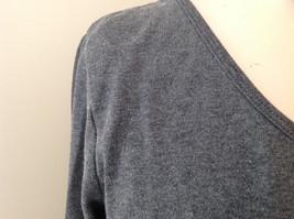 Jordache Gray V Neck Long Sleeve Shirt Made in Korea Size Large image 4
