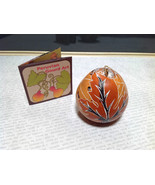 Leaves Hand Carved Art Ornament Peruvian Gourd Eco Sustainable Fair Trade - $39.99