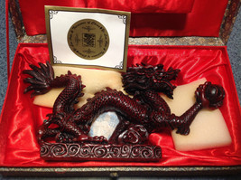 NEW Dragon Figurine Red Yi Lin Treasures of China Handcrafted and Painted
