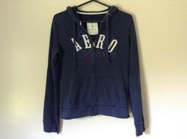 Navy Blue Hoodie Sweatshirt Aeropostale Zip Up Size Large