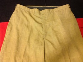Lee Prest Long Brown Squared Colored Womens Dress Pants 12 Inch W 43 Inch L