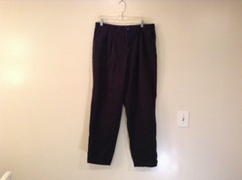 Lee Size 18 Medium Black Pants Elastic Inserts on Waist Pleats on Front