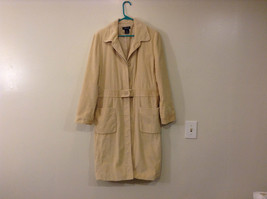 Light Beige Cream Fully Lined Willi Smith Light Coat sz 10 Buttons corduroy image 1