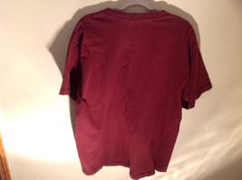 Aeropostale Burgundy Graphic Short Sleeve T-Shirt 100 Percent Cotton Size Large image 3