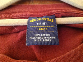 Aeropostale Burgundy Graphic Short Sleeve T-Shirt 100 Percent Cotton Size Large image 4