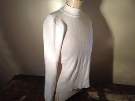 Karen Scott White Long Sleeve Sweater 100 Percent Cotton Size XL image 2