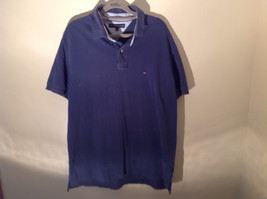Navy Blue Short Sleeve Tommy Hilfiger Shirt with Collar and Buttons Size XL