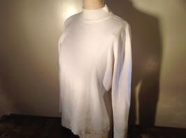 Karen Scott White Long Sleeve Sweater 100 Percent Cotton Size XL image 4