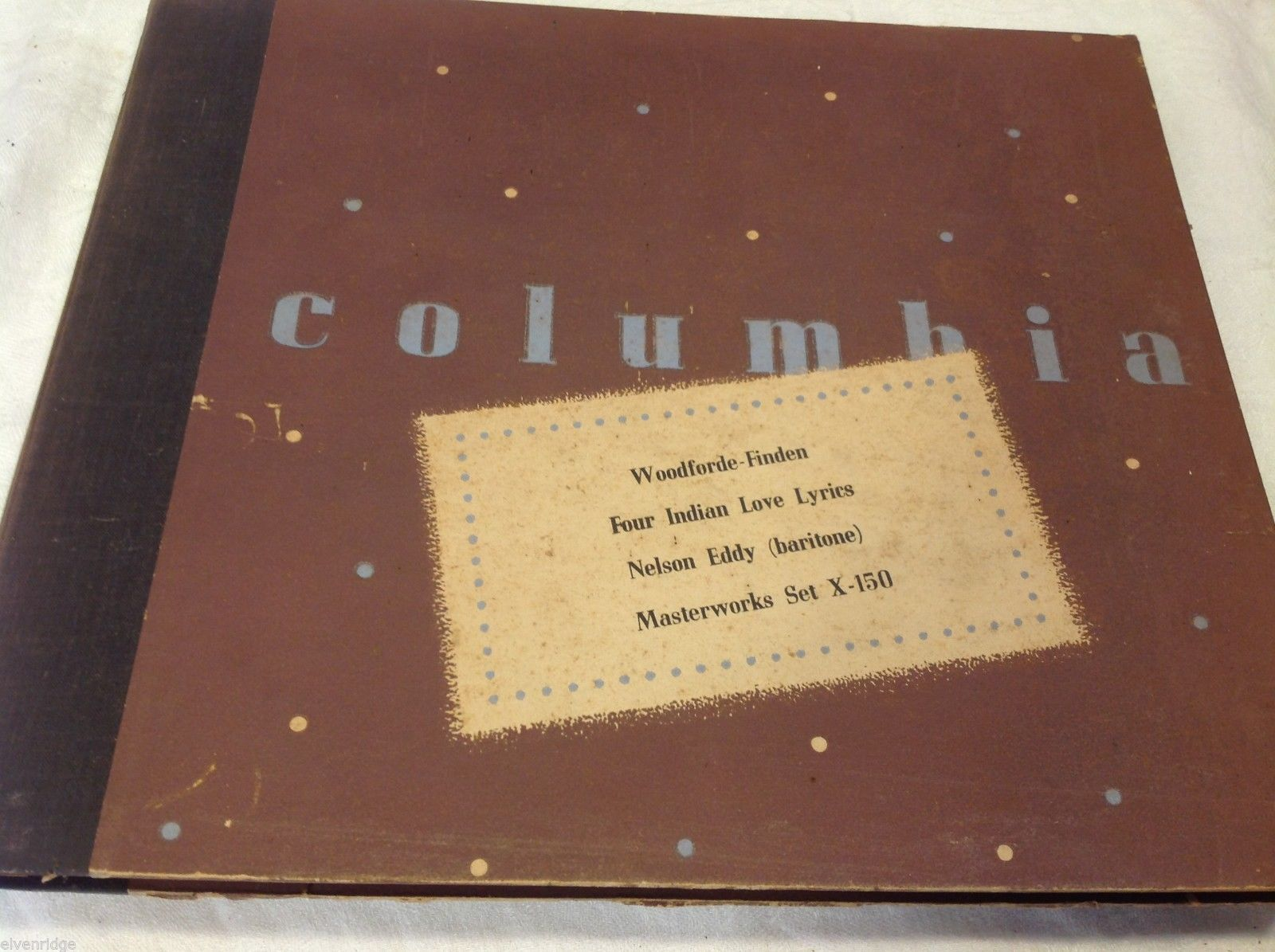 Nelson Eddy Columbia Masterworks vintage record set w original sleeves slipcover