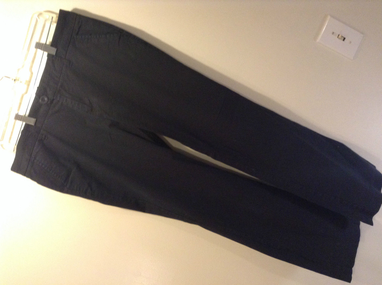 Navy Blue Old Navy Casual Pants Pleated Front Size 10 Classic Rise