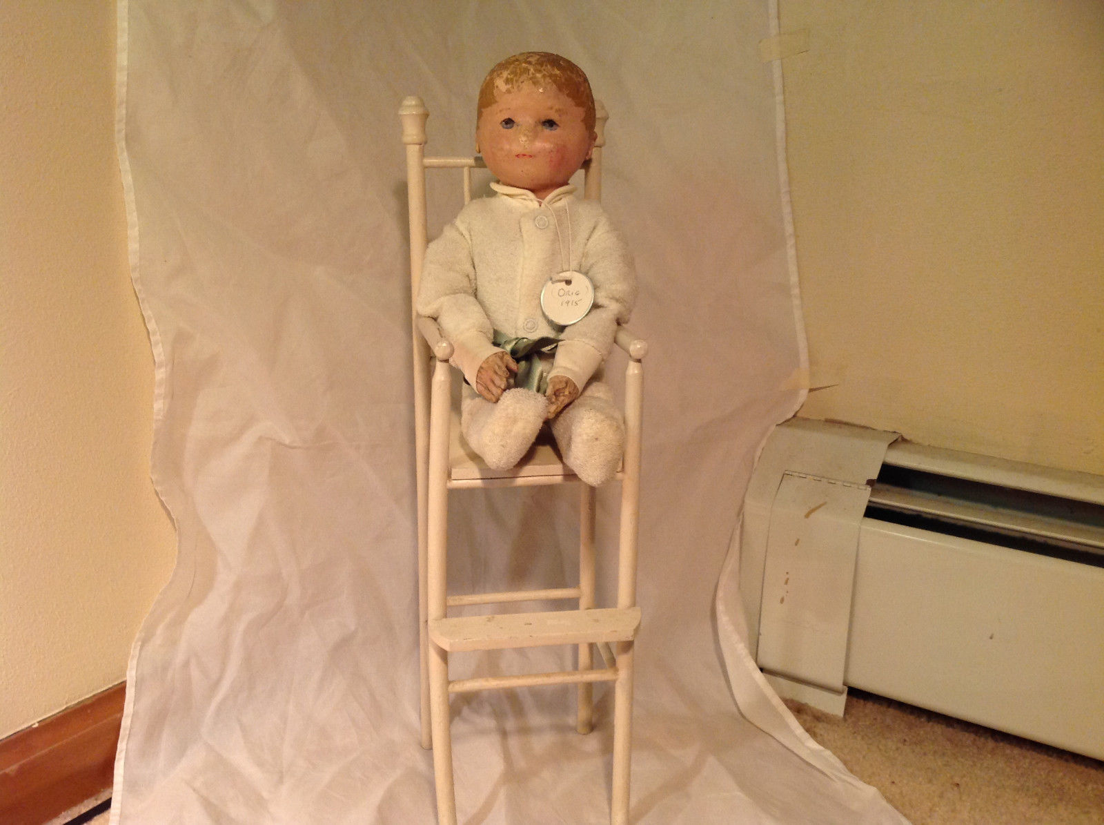 Nell Doll by Martha Chase with Perfect Size Highchair for Nell 15 Inches Tall