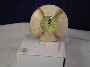 New Baseball Clock in Box Quarts Gears Vintage Look