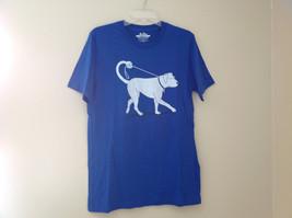 New Blue Dog walk Design Graphic Short Sleeve T-Shirt Size choice M or L
