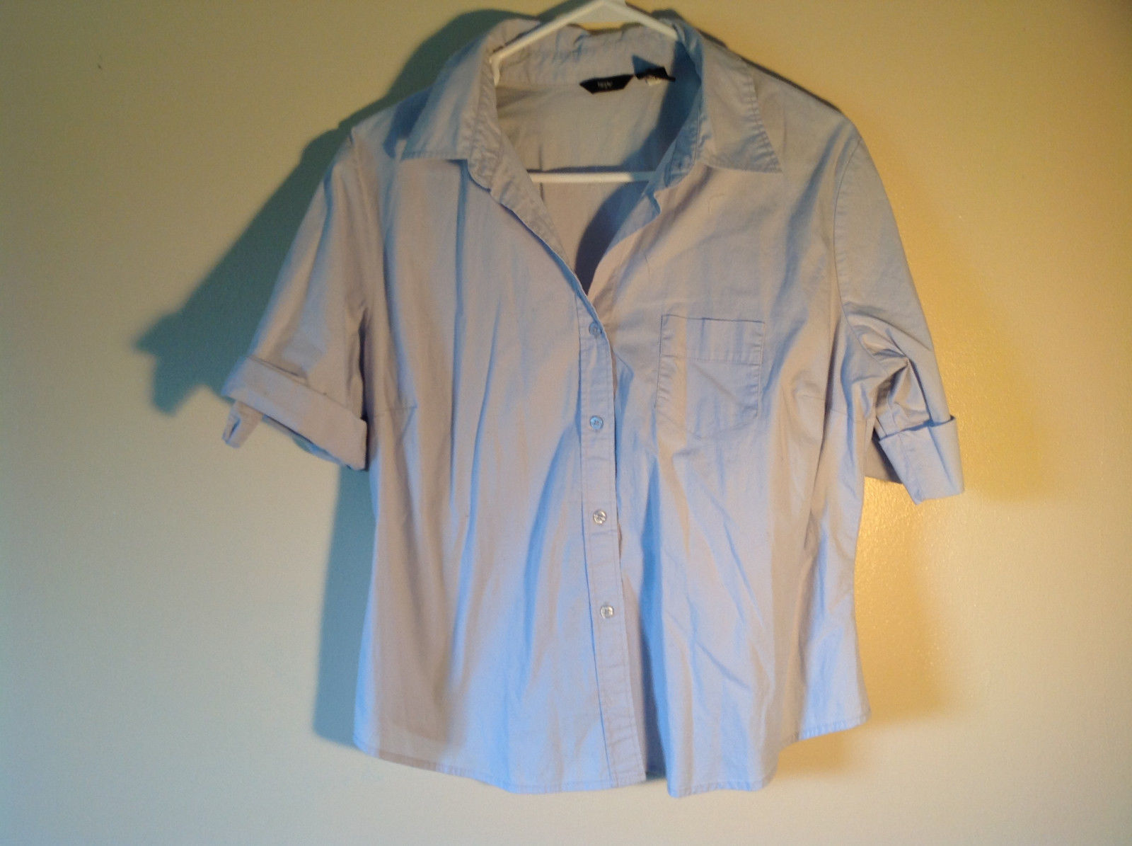 Light Blue Short Sleeve Mossimo One Pocket on Front Button Down Shirt Size XL