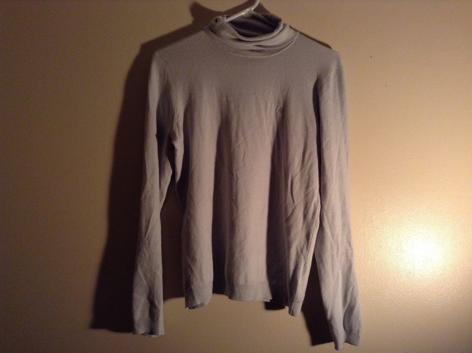 Light Blue Long Sleeve Ralph Lauren Turtleneck Shirt Size Medium