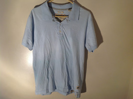 Light Blue with Stripes Short Sleeve Collared Timberland Casual Shirt Size L
