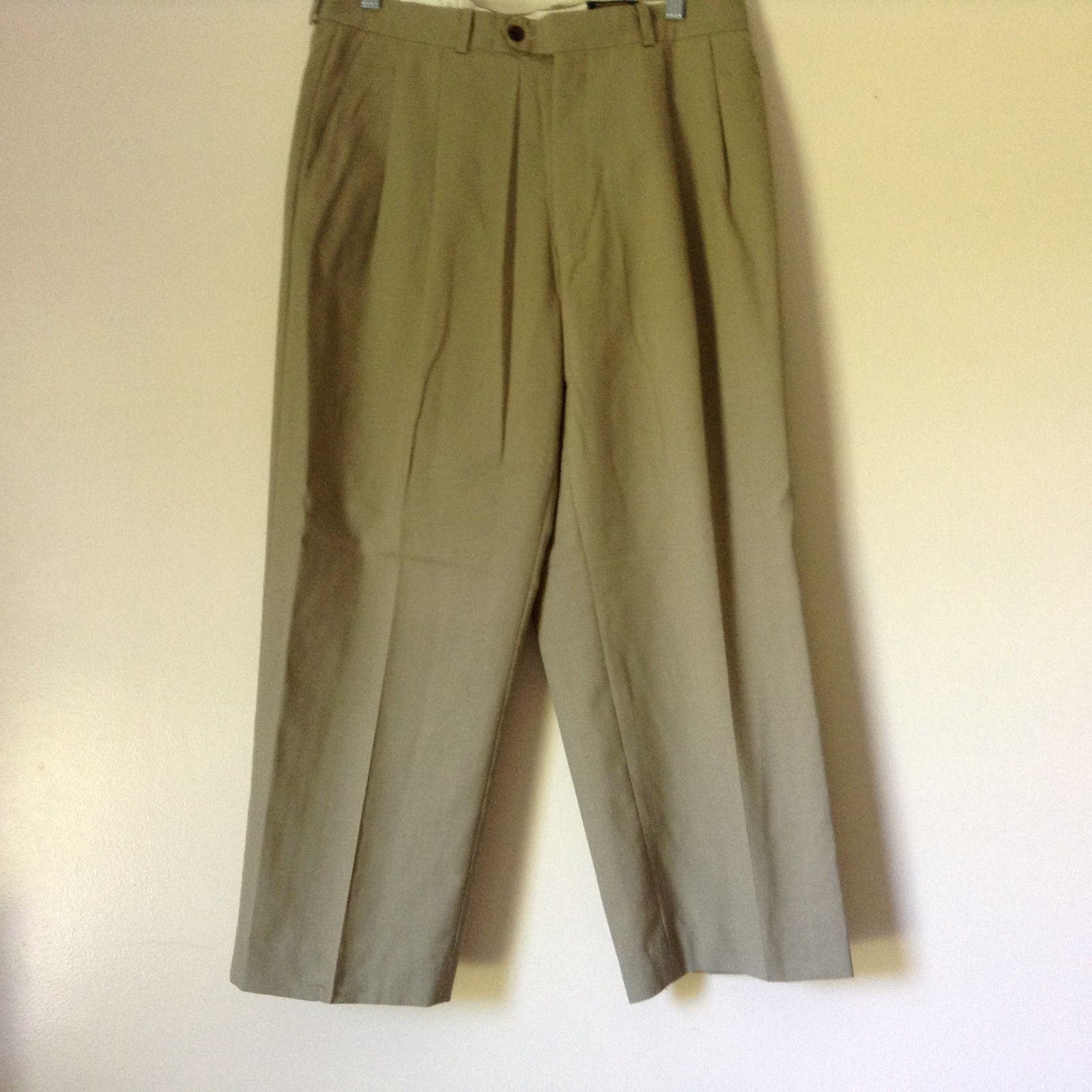Light Brown Dress Pants by Chaps Ralph Lauren 100 Percent Wool Size 34